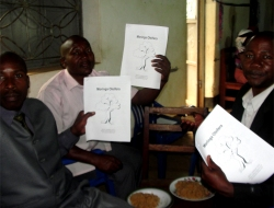 The African Community Moringa Project was introduced to the Pastors in the Kasese Region, educational handouts were given out as well as children's Moringa colouring books.