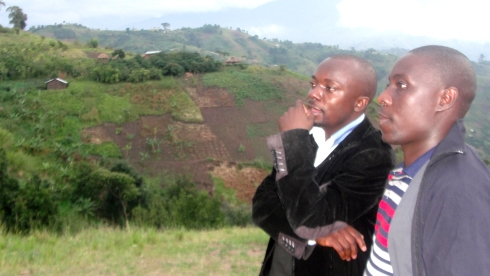 Rev Abraham Kisembo and Jerry on the mountain