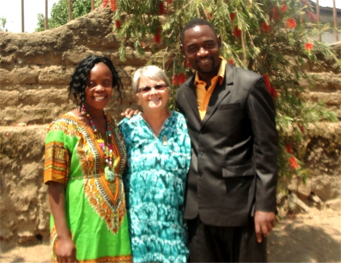 Jenny and Bishop David Akondowi and his beautiful wife Stella in Mbeya Tanzania