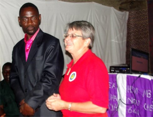 Jenny and Bishop David Akondowi in Tukuya ATBS Malawi