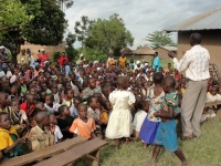 Following the three day KIMI training the Uganda teaching was wrapped up with a rousing Child Evangelism outreach,
