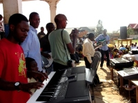 A new keyboard and drum set was also donated to the ministry for God's glory.