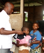 After the conference and crusade Bishop Pinos was able to distribute clothes to the Pigmies.