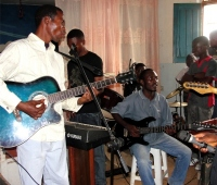 There was excellent praise and worship and many churches had come together to create these excellent bands of musicians.