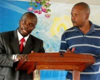 Pastor Abraham with his translator
