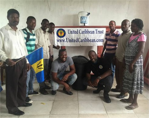 United Caribbean Trust Mission trip to help survivors of Hurricane Matthew in Haiti with Sawyer filtered clean water as fears of an increase in cholera cases grow