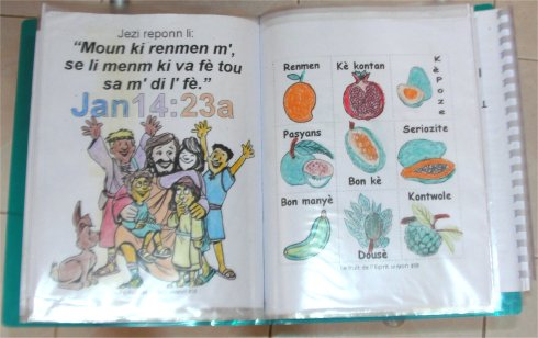 Follow Me Kids Discipleship childrens curriculum coloured by children at Mount Zions Mission Barbados