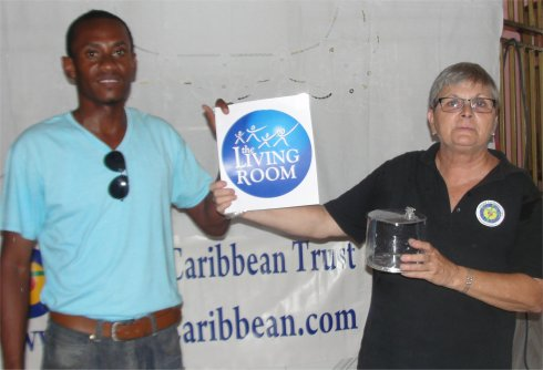 Living Room Haiti Development Fund distributing Luci Solar Lights Haiti Mission trip to Port au Prince