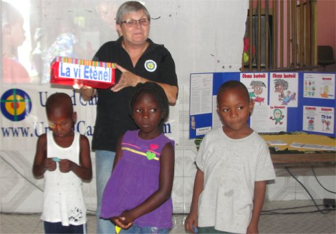United Caribbean Trust Mission trip to Haiti introducing Follow Me childrens curriculum