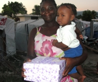 Seen here one of the Make Jesus Smile baby boxes another arm of our distribution.