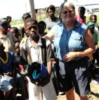 Make Jesus Smile shoebox distribution to Cannan tent city