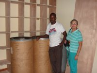 Jenny traveled down to Jacmel to meet Pastor Rodrigue and deliver two barrels of adult clothes donated by the people of Barbados.