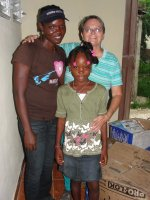 The highlight of my trip to Haiti was to visit and bless my two sponsored girls with 'Sponsored Family Hampers'