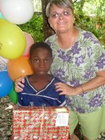 EEbernezer Orphanage  children receiving their Make Jesus Smile shoebox from  Jenny Tryhane