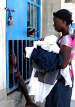 Jenny Tryhane was able to return to St Marc prison for third time to distribute clothing and toiletries to the inmates.