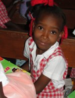 Make Jesus Smile shoebox gifts wrapped and packed by the children of Barbados.