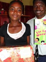 The children from Church of God Bois Landry had a wonderful time receiving their Make Jesus Smile shoeboxes