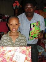 Make Jesus Smile shoeboxes distributed to Les Martinier Church of God in Haiti
