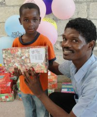 Maranatha Ministries in St Marc receive their Make Jesus Smile shoeboxes