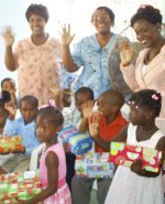 The Power in the Blood Make Jesus Smile shoeboxes