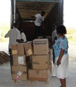 The container finally arrived in Haiti and was cleared by HaitiOne and stored in their warehouse.