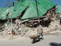Governmental Ministerial buildings destroyed in the recent earthquake