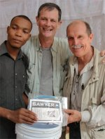 Seen here Don Warren the founder in Haiti immediately after the Haiti distributing Sawyer Point One Water Filters in the Yolanda Thervil Foundation.