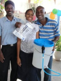 Jeanelle, a Barbadian YWAMer and her Haitian YWAM husband Daniel Noel helped us with the Make Jesus Smile distribution of shoeboxes at their local Nazarene church and at the YWAM base where they lived during their mission trip to Haiti.