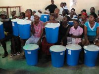Nazarene church in City Soleil hosts Sawyer PointONE Water Filter distribution