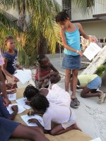 The children in Haiti  after the earthquake