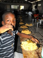 Special thanks to HaitiOne that provided the food for the 4 day camp where 300 children were fed physically and Spiritually.