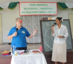Jenny will, God willing, be returning to Suriname in the summer to continue the training and focus on training Christian school teachers with the aim of getting KIMI into the schools in Suriname.