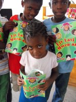 Thanks to the Bible Society of Haiti for donating these wonderful books that have been distributed to hundreds of children all over Haiti