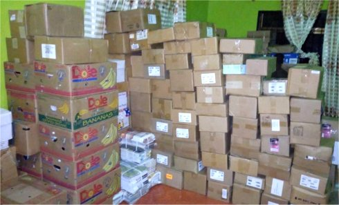 Love Packages donated to Africa by Eagles Nest Ministries aimed at putting Christian literature and Bibles into the hands of Tanzania Pastors