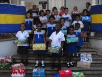 United Caribbean Trust (UCT) embarked on its fourth Make Jesus Smile Christmas shoebox project St Gabrials School