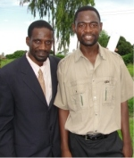The Malawi PowerPlay Child Care Center will be overviewed by Pastor William Silwimba under the supervision of Pastor David seen here on his left.