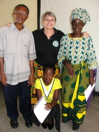 It was a family affair both his wife and his daughter attended the KIMI Karunga training. Praise God.