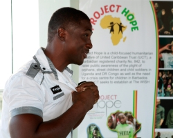 Shane Forrester the official launch of Project Hope at Limegrove