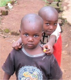 These little boys live in the Orphanage in Uganda that United Caribbean Trust (UCT) is attempting to purchase.