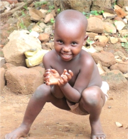 This little boy lives in the Orphanage in Uganda that United Caribbean Trust (UCT) is attempting to purchase.