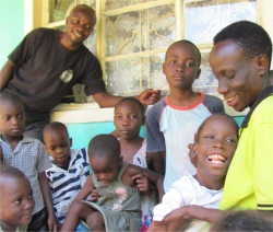 Seen here Rev Abraham our UCT Uganda representative at the orphanage that we would like to purchase and re-establish.