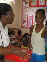 Parkinson's Secondary School visited Bagatelle Nursery school