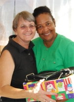 Founder of the Yolanda Thervil Foundation with  Jenny Tryhane Founder of United Caribbean Trust