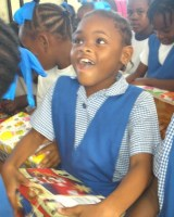 f Society Primary received decorated shoeboxes filled with toys and other goodies from the United Caribbean Trust