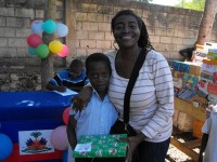 Seen here Greta St Hill from Ann Gill Methodist church in Barbados. Thank God for Greta who worked tirelessly in the distribution of the Make Jesus Smile shoeboxes.