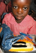 Seen here the children of Haiti receiving their Make Jesus Smile shoe boxes.