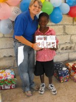 This ministry has been supported in the past by Power in the Blood church in Barbados and their children wrapped and packed Make Jesus Smile shoeboxes specially for these orphans.