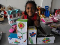 Seen below some of the boxes beautifully decorated by some of the Pre Primary School children.