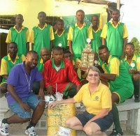 Seen here the Haiti football team sponsored by UCT