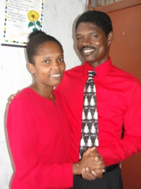 Pastor Pierre Banes Laurore and his beautiful wife Madam Pastor Nehemie